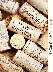 Happy Birthday card - Greeting card made from wine corks...