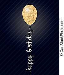happy birthday card on black background