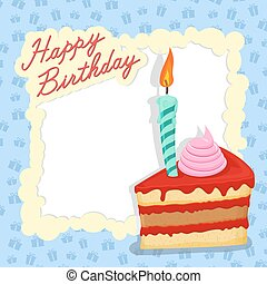 Happy birthday card. Place for text