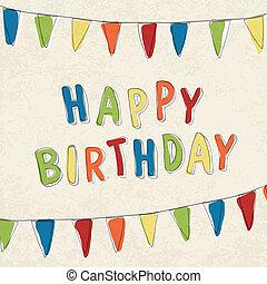 Happy Birthday Card. Vector, EPS10