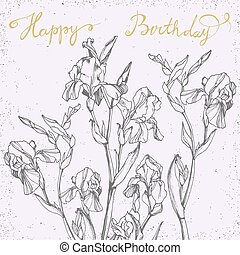 Happy Birthday Card with bunch of i