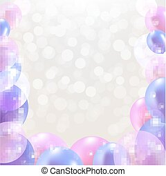Happy Birthday Card With Pastel Balloons