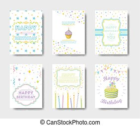 Birthday cards set.