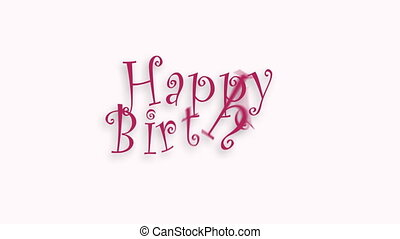 Happy Birthday celebration typography. Greeting text for video card