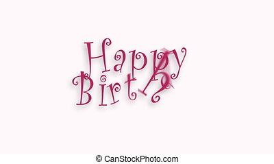 Happy Birthday celebration typography. Greeting text for...