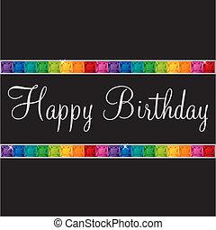 Happy Birthday! - Happy Birthday bling card in vector...