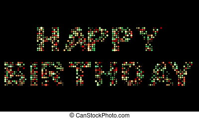 Happy birthday colorful led sign