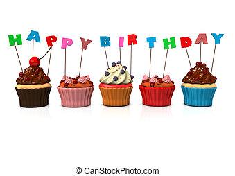 Miraculous Happy Birthday Cupcakes Cupcakes With Text Happy Birthday Funny Birthday Cards Online Eattedamsfinfo