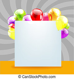 Happy Birthday Day Card With Color