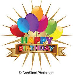 Happy birthday design vector icon
