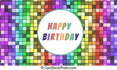 Happy birthday! - Digital animation of the words Happy ...