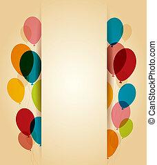 Happy Birthday - Retro greeting card Happy birthday with...