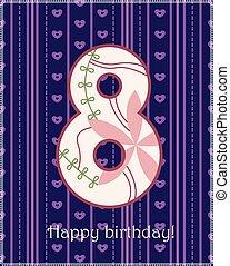 Happy birthday eight card