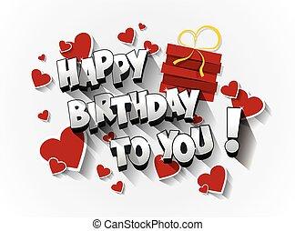 Happy Birthday celebration greeting card vector Illustration