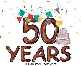 Happy Birthday fifty 50 year