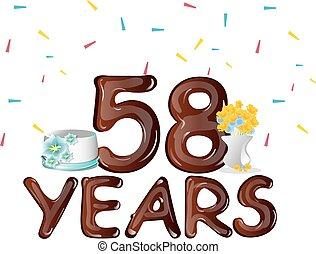 Happy Birthday fifty eight 58 year