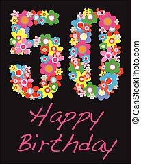 happy birthday fifty year greeting celebration