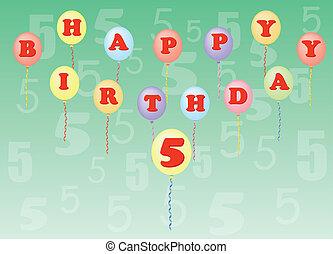 happy birthday five years