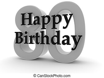 Happy Birthday for 80th birthday - Happy Birthday with the...