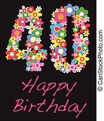happy birthday forty year greeting celebration