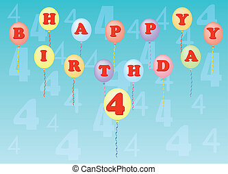 happy birthday four years