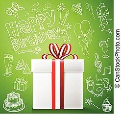 Happy birthday, gift box