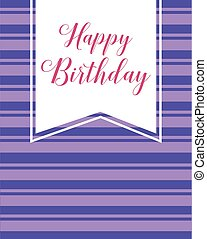 Happy birthday greeting card collection vector illustration