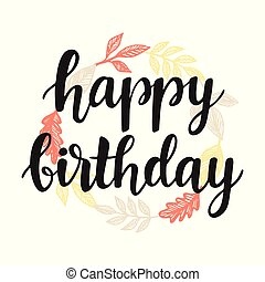 Happy Birthday greeting card design template