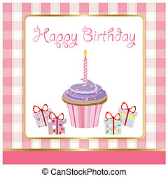 happy birthday, greeting card