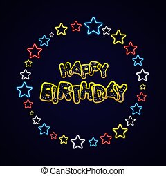 Happy Birthday Greeting Card On Background