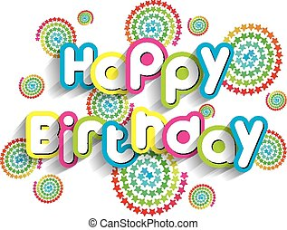 Happy Birthday Greeting Card On Background vector ...