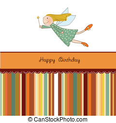 Happy Birthday Greeting Card - Vector Illustration