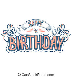 Happy Birthday Greeting Card With A Beautiful Inscription