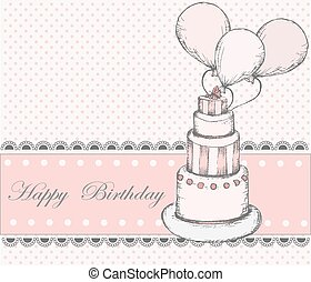 Happy Birthday Greeting card with c
