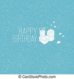 Happy Birthday Hand Drawn Card, Vector