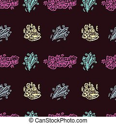 Happy birthday Hand drawn pattern Background