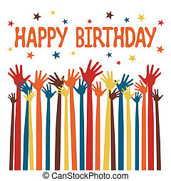 Happy birthday hands design. - Happy birthday hands design ...