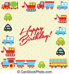 happy birthday design over dotted background vector...