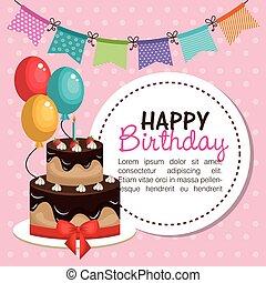 Happy Birthday Invitation Card Vector Colorful Birthday - Birthday invitation card eps