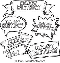 Happy Birthday labels and tags