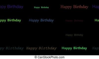 Happy birthday left to right gird
