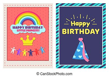 Happy Birthday Little Princess Two Festive Posters