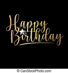 happy birthday luxury calligraphy