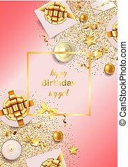 Happy Birthday My Girl Pink Greeting Card