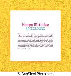 Happy Birthday Paper Template