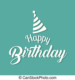 Happy Birthday Party Hat Background Vector Image