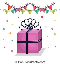Happy Birthday Party Invitation With Gift