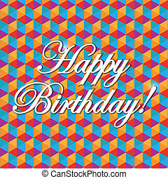 happy birthday pattern illustration design