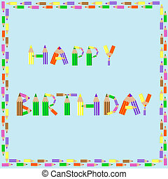 happy birthday pencils alphabet