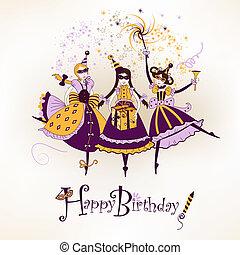 Happy birthday postcard - Festive happy birthday postcard ...